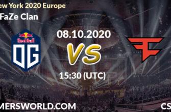 OG – FaZe Clan. Прогноз на матч 11.10.2020