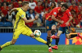 Швеция - Испания: Прогноз на матч 15.10.2019
